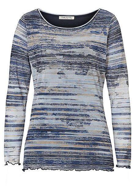 Betty Barclay Printed mesh top, Blue