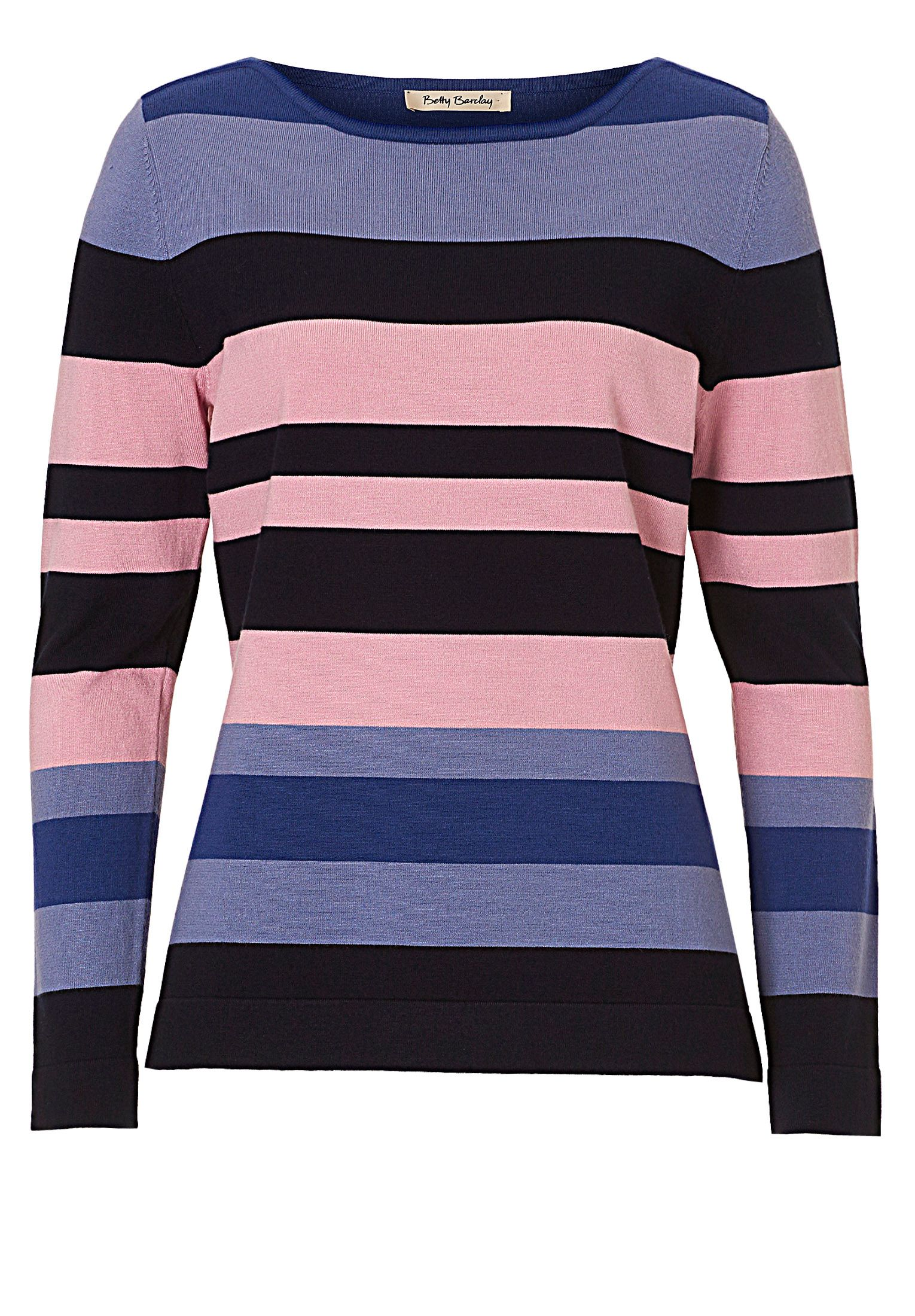 Betty Barclay Striped fine knit top, Blue