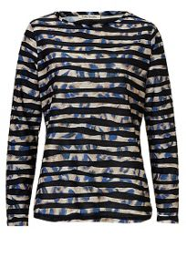 Betty Barclay Print and stripe top