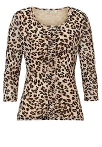Betty Barclay Animal print layered top