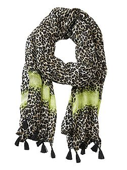 Long animal print scarf