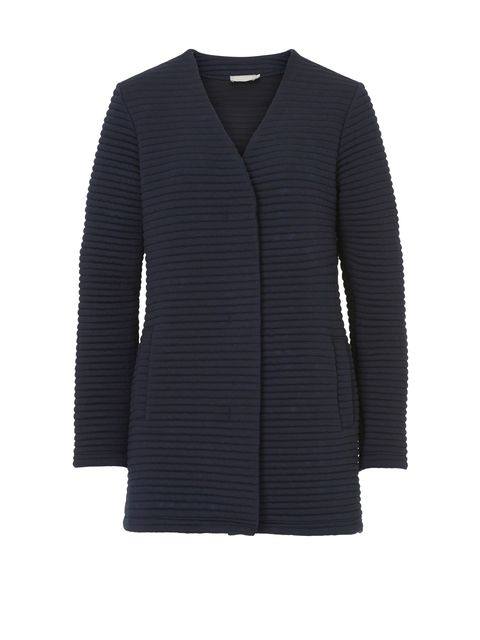 Betty Barclay Ribbed cardigan coat, Blue