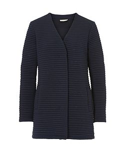Ribbed cardigan coat