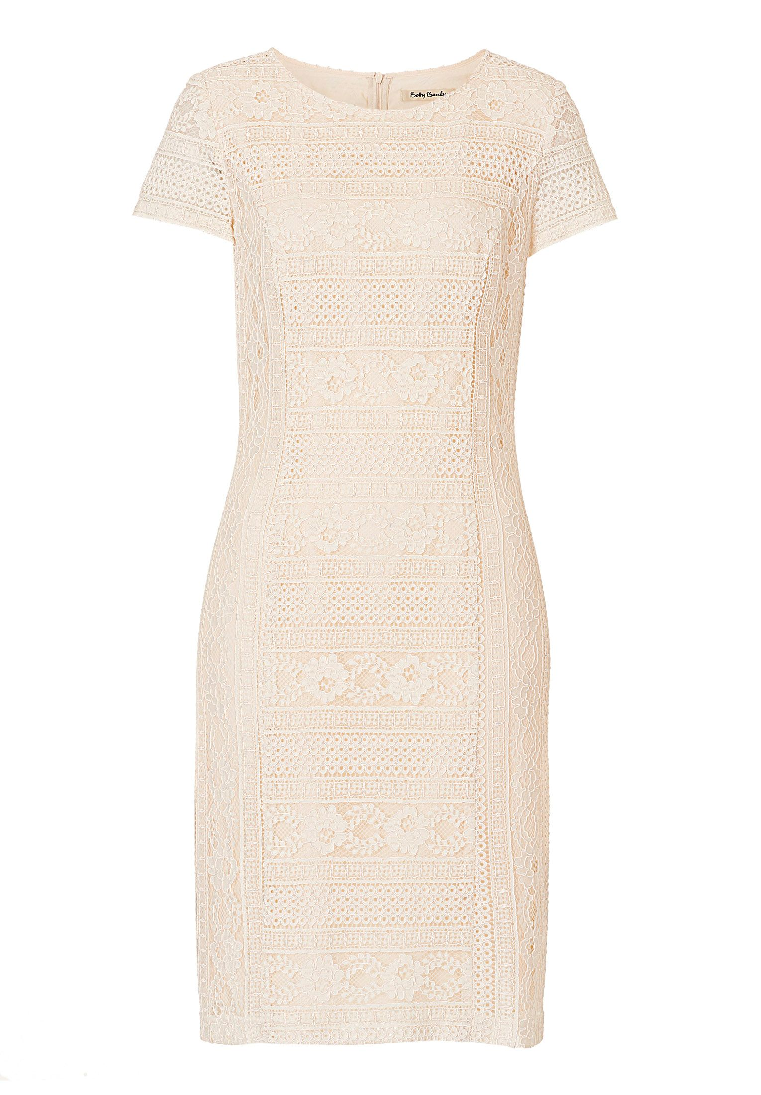 Betty Barclay Lace shift dress, Brown