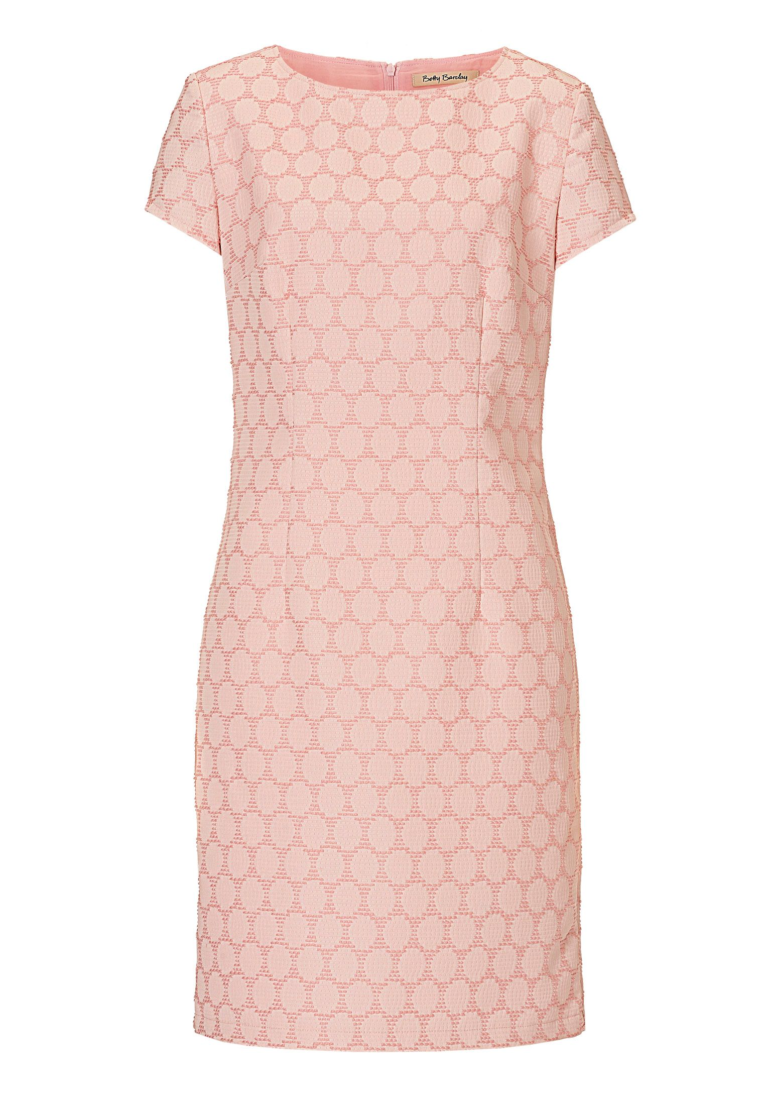 Betty Barclay Textured shift dress, Cream