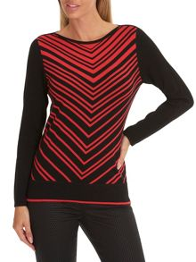Betty Barclay Chevron knit jumper
