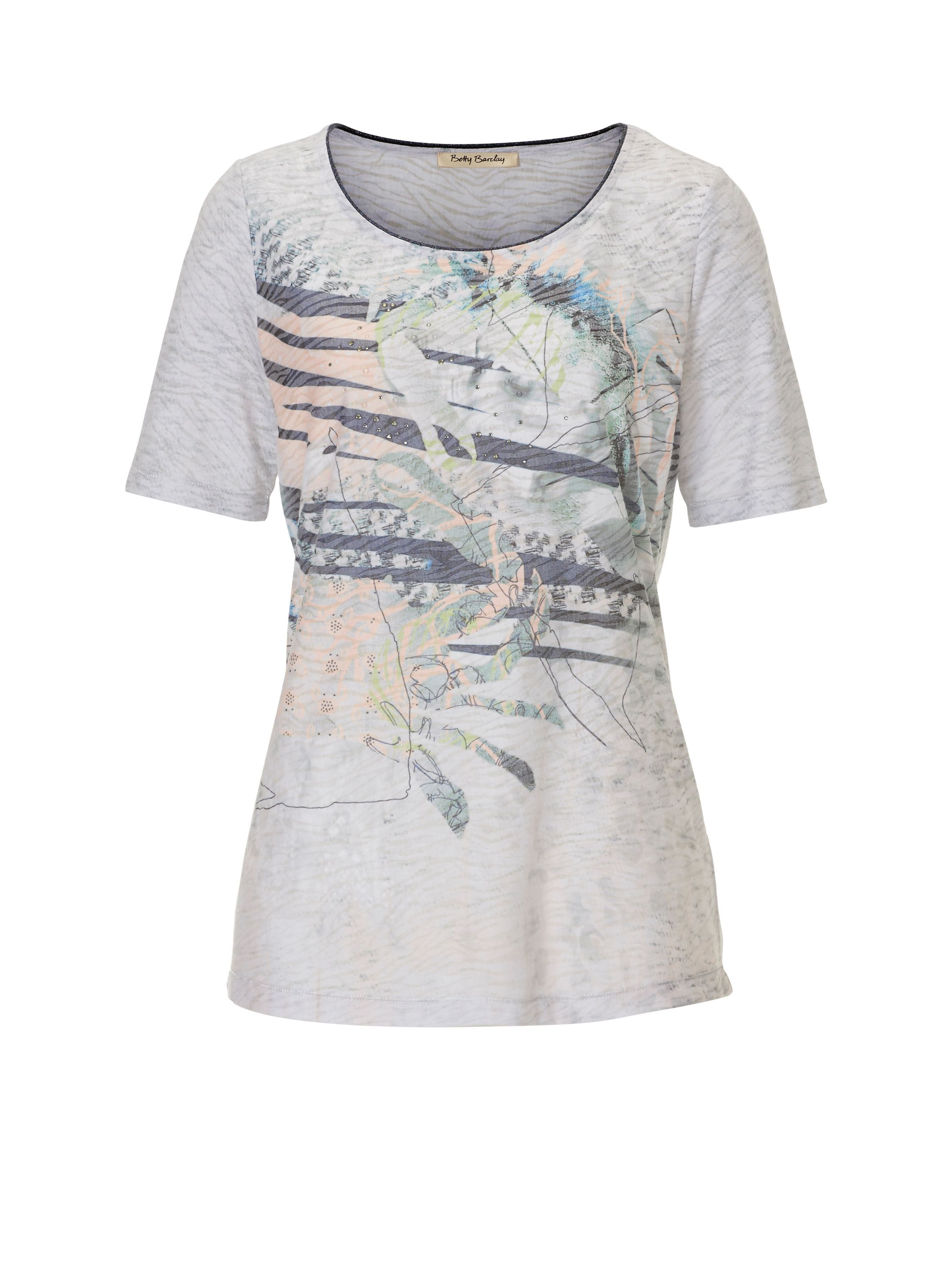 Betty Barclay Embellished print T-shirt, Blue