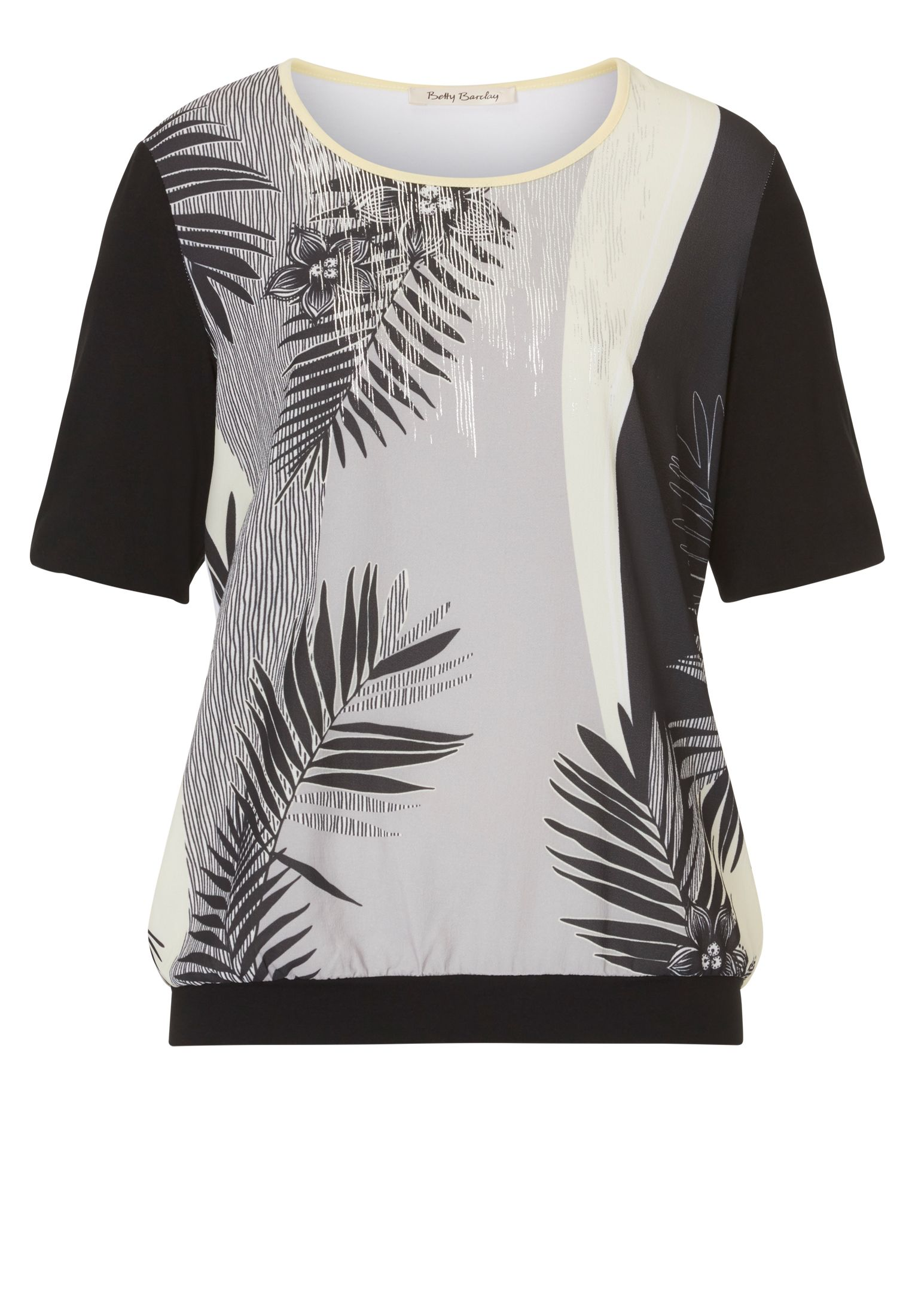 Betty Barclay Palm leaf print top, Yellow