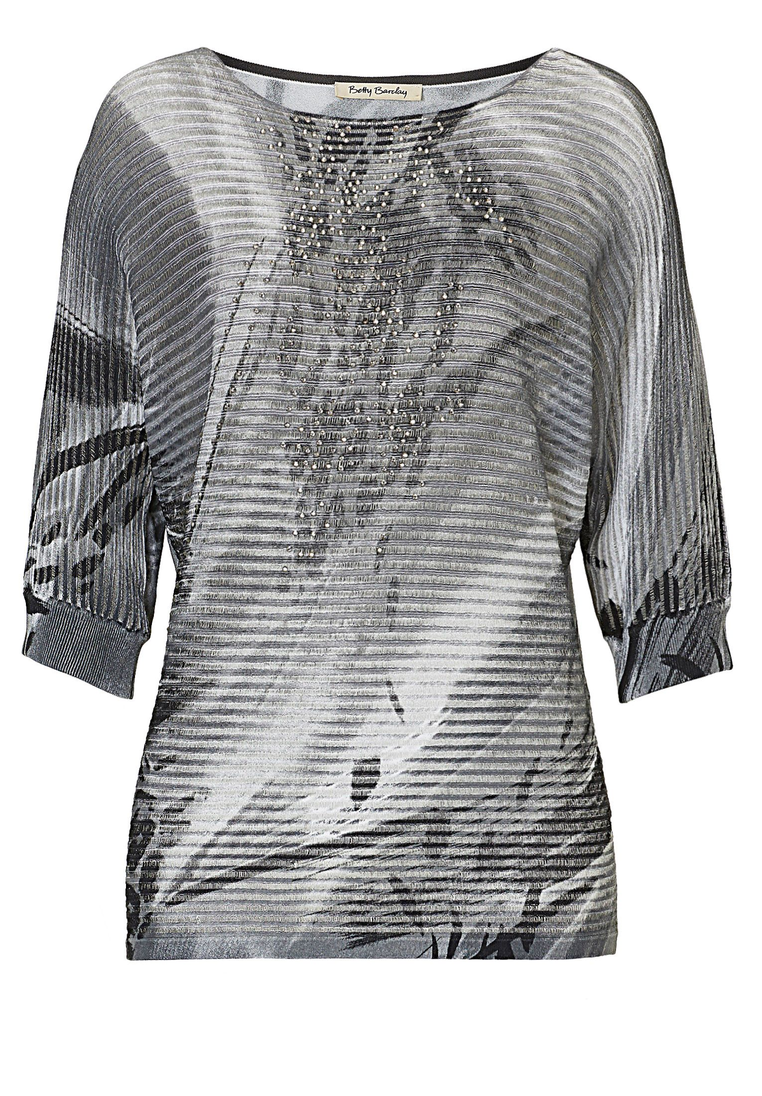 Betty Barclay Graphic print embellished top, White