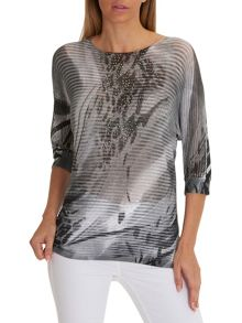 Betty Barclay Graphic print embellished top