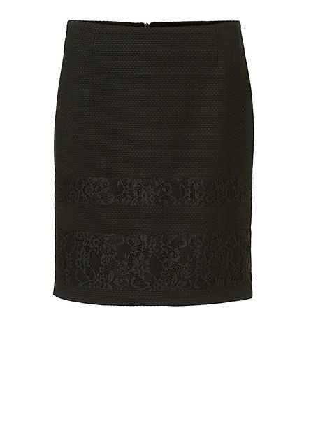 Betty Barclay Textured lace skirt, Black