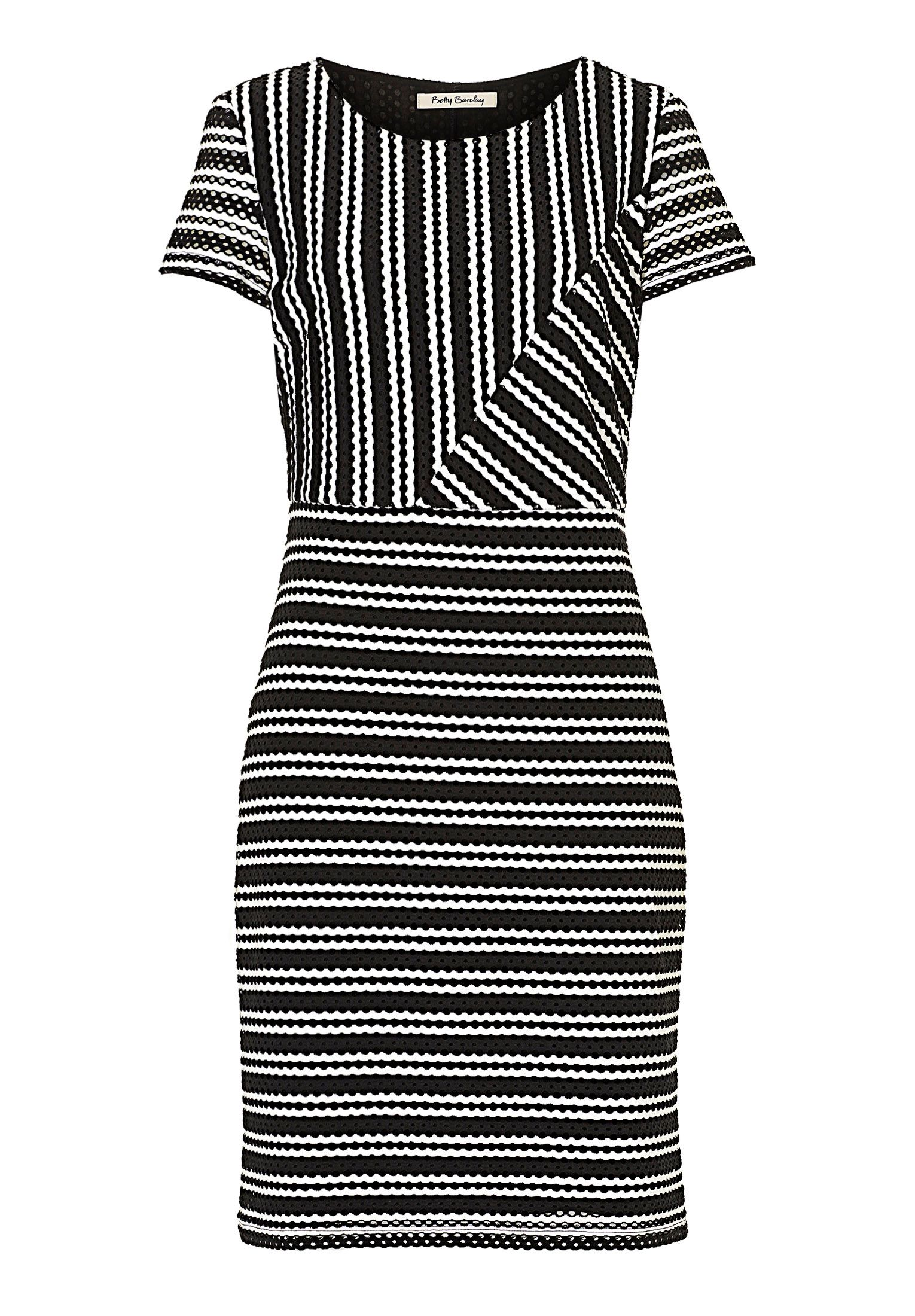 Betty Barclay Graphic striped dress, White