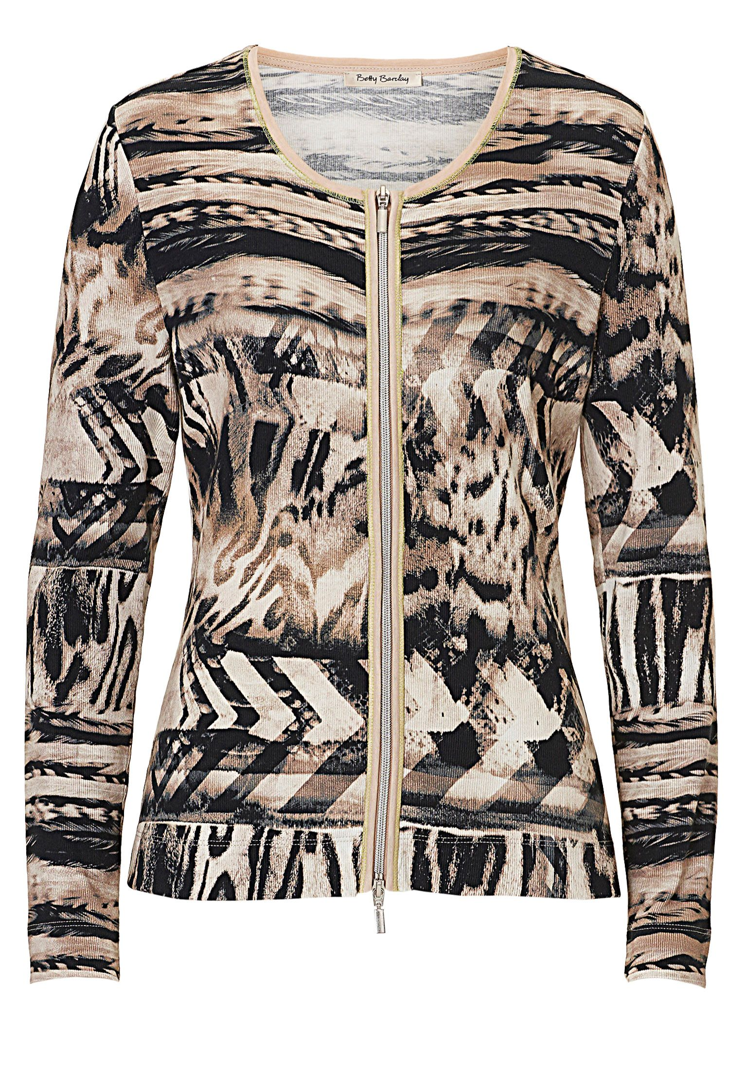 Betty Barclay Print cardigan Cream