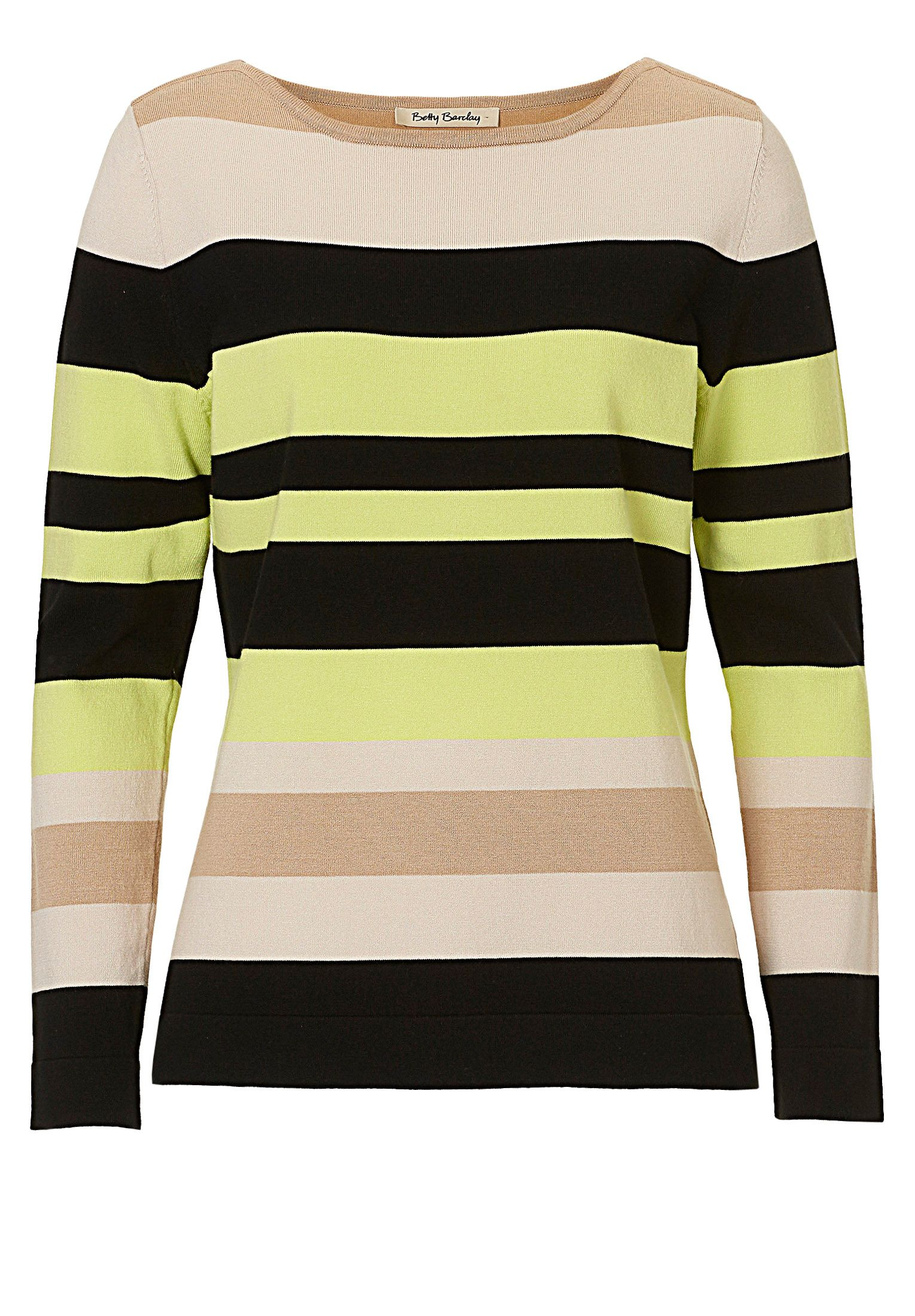 Betty Barclay Striped fine knit top, Cream