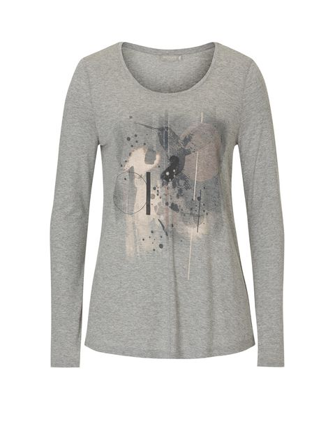 Betty & Co. T-shirt with print motif, Grey