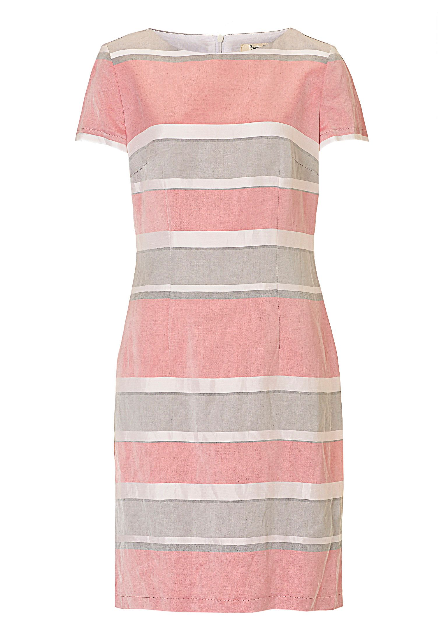 Betty Barclay Striped satin shift dress, Grey
