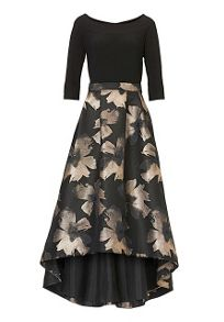 Vera Mont Metallic print evening gown