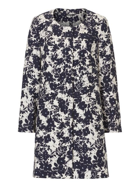 Vera Mont Floral print unlined coat, Blue