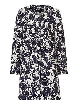 Floral print unlined coat