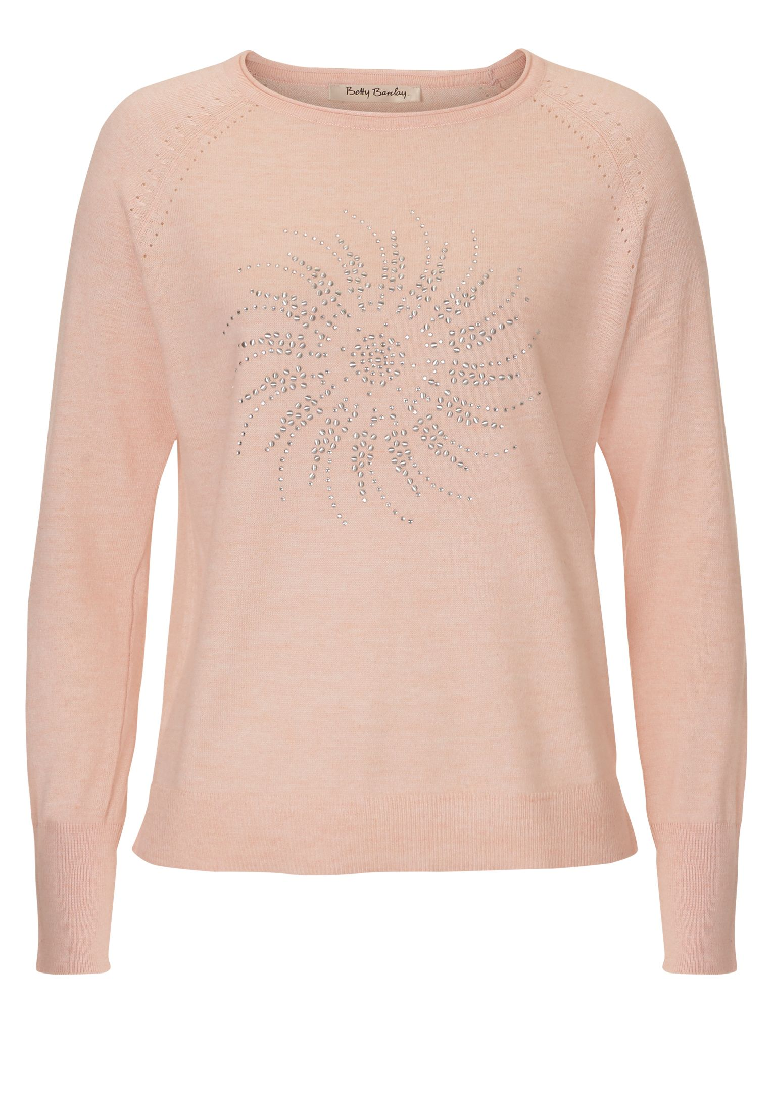 Betty Barclay Fine knit embellished jumper, Pink