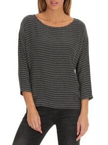 Betty & Co. Oversized tedtured top
