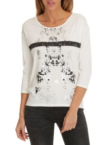 Betty & Co. T-shirt with metallic print motif