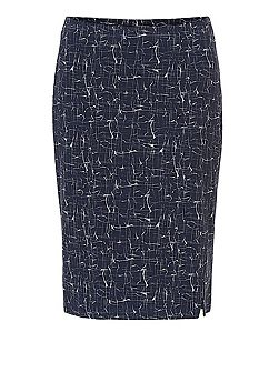 Graphic print pencil skirt