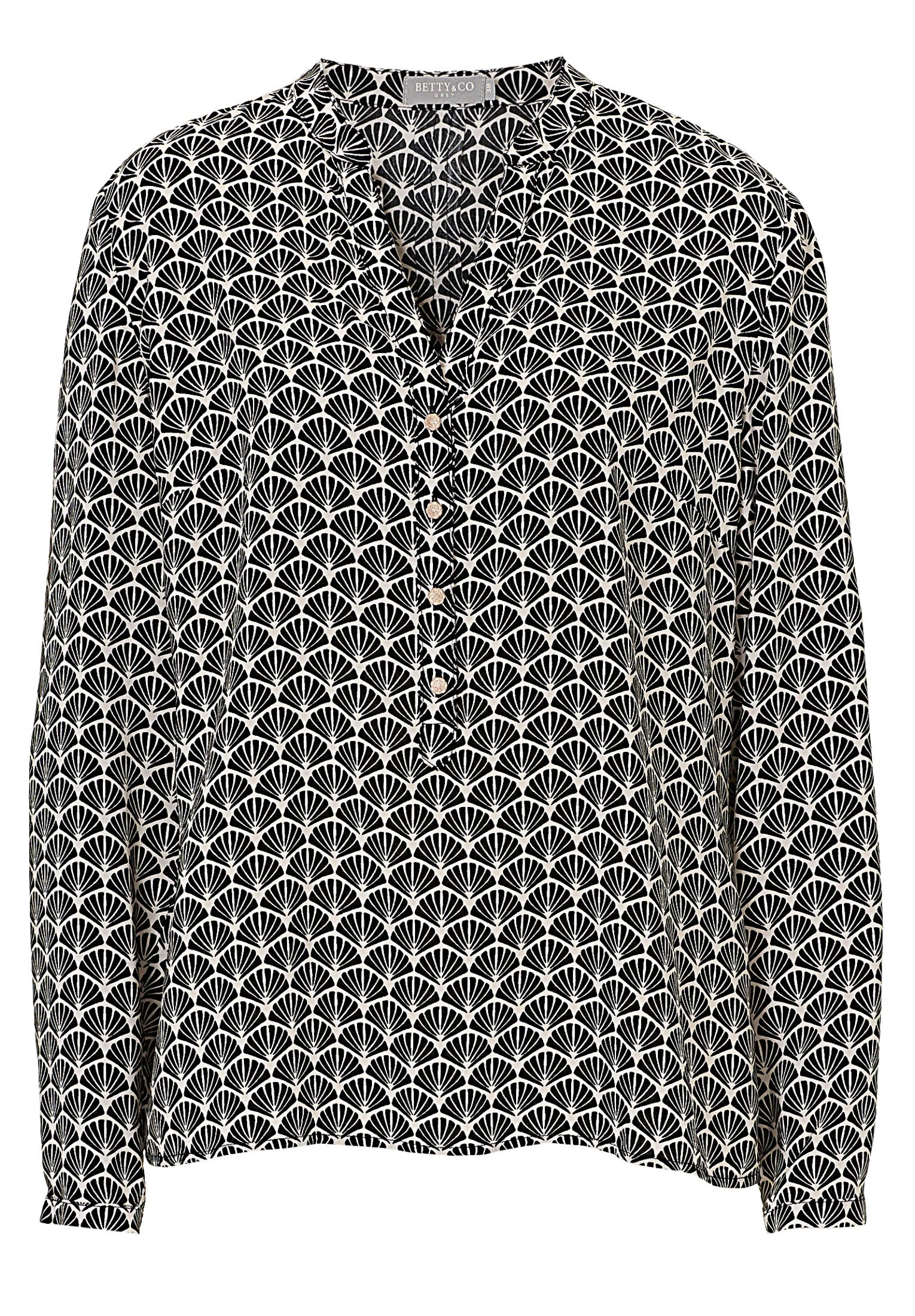 Betty & Co. Printed blouse, Black