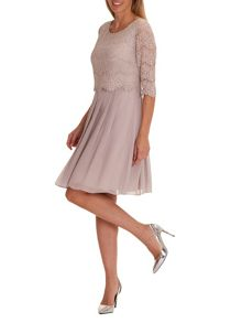 Vera Mont Chiffon and sequin dress