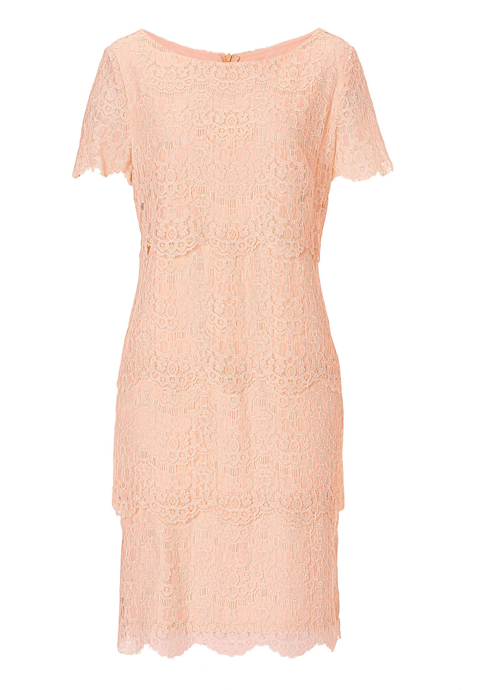 Vera Mont Lace layered shift dress, Pink