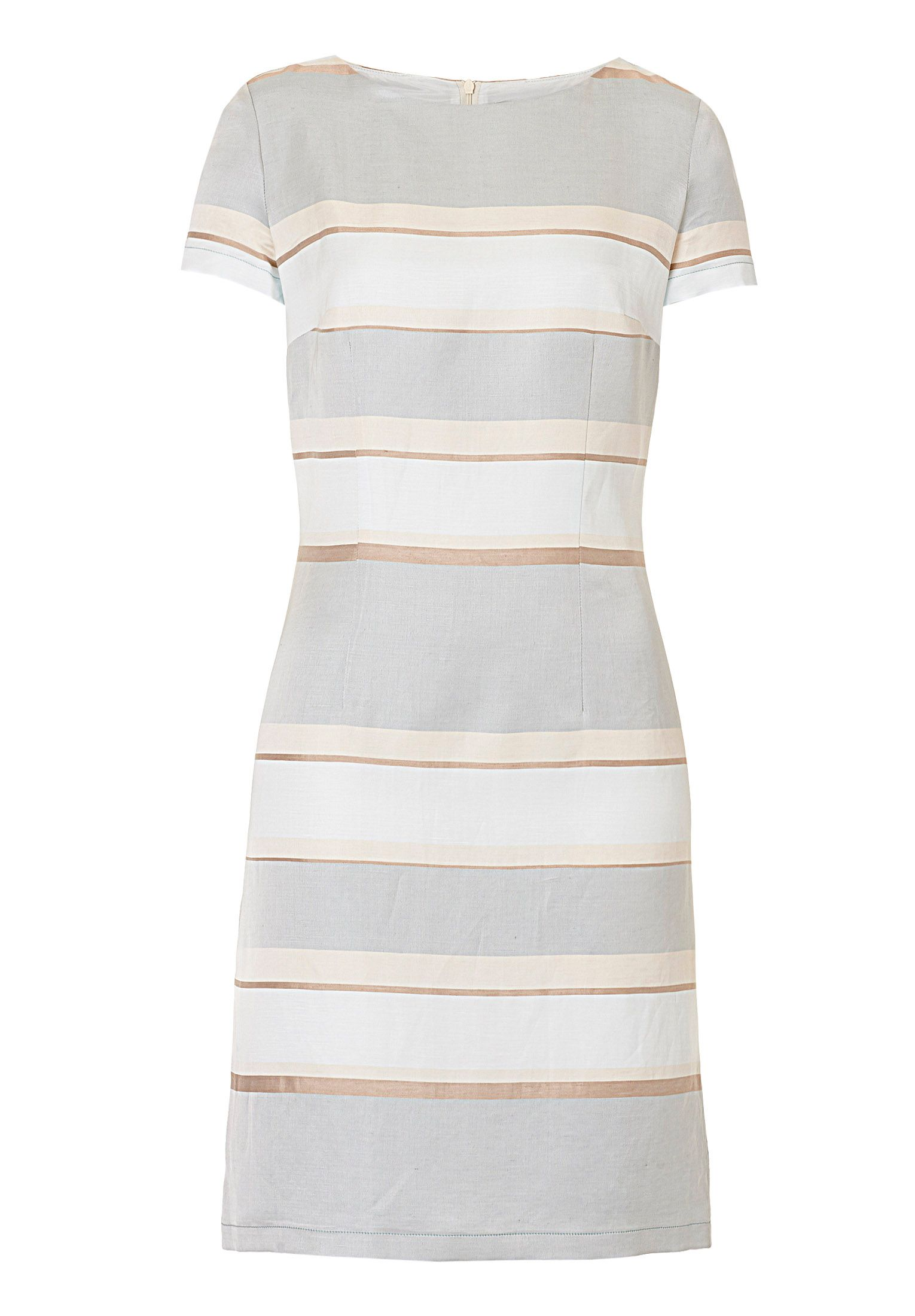 Betty Barclay Striped satin shift dress, Blue
