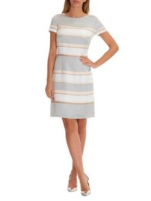 Betty Barclay Striped satin shift dress
