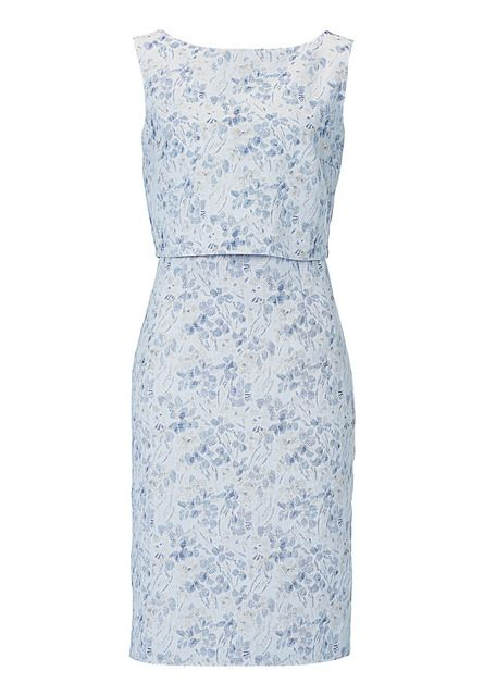 Vera Mont Layered dress, Duck Egg