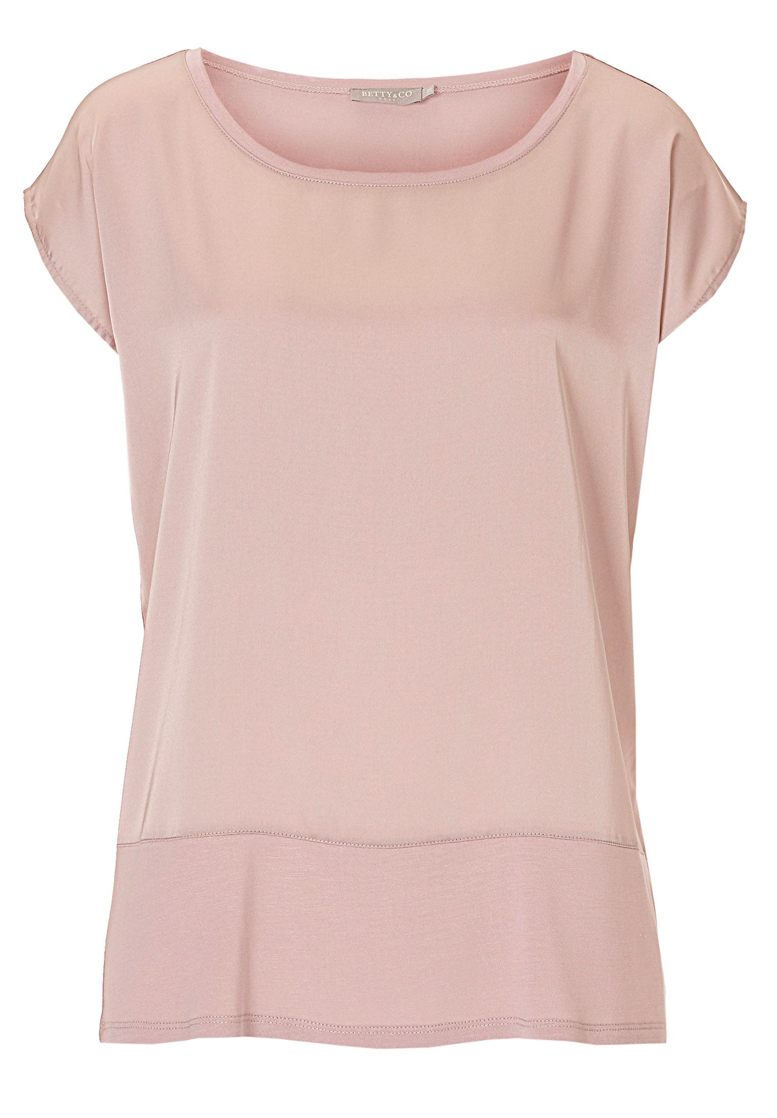 Betty & Co. Satin and jersey top, Rose