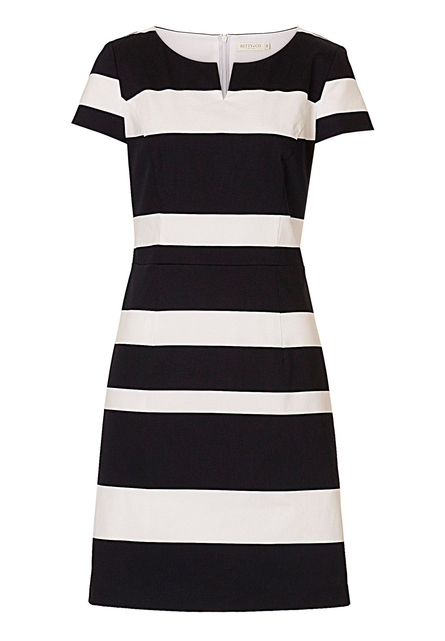 Betty & Co. Striped shift dress, White