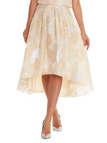 Vera Mont Floral chiffon evening skirt