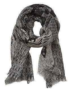 Long graphic print scarf
