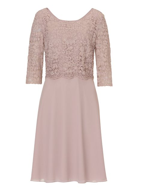 Vera Mont Lace layered dress, Rose
