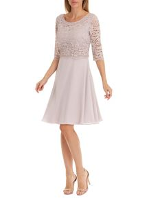 Vera Mont Lace layered dress