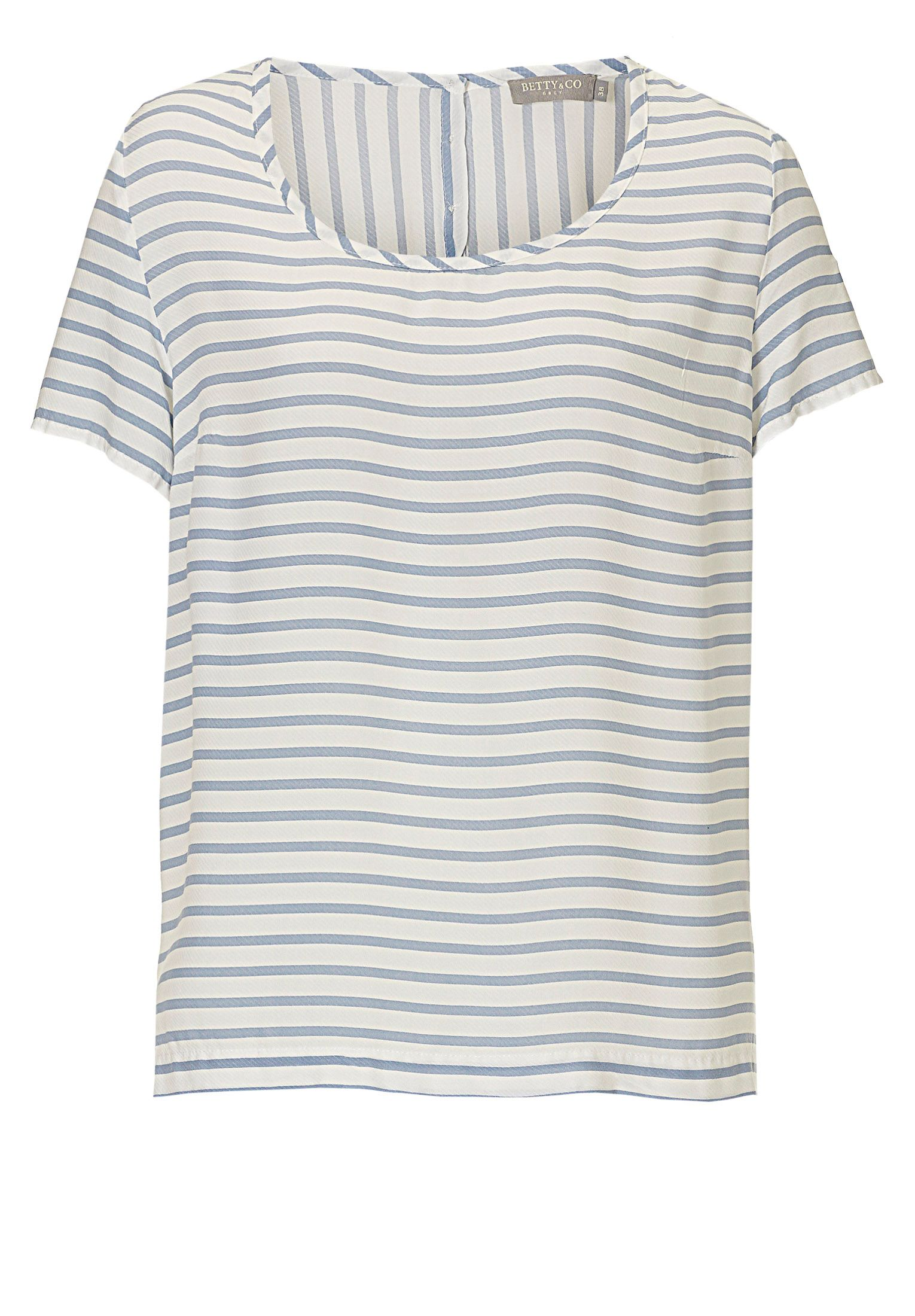 Betty & Co. Short sleeved striped top, Multi-Coloured