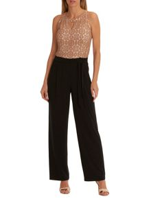 Vera Mont Lace and jersey jumpsuit