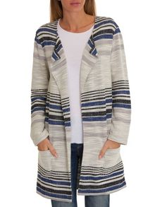 Betty & Co. Striped cardigan coat
