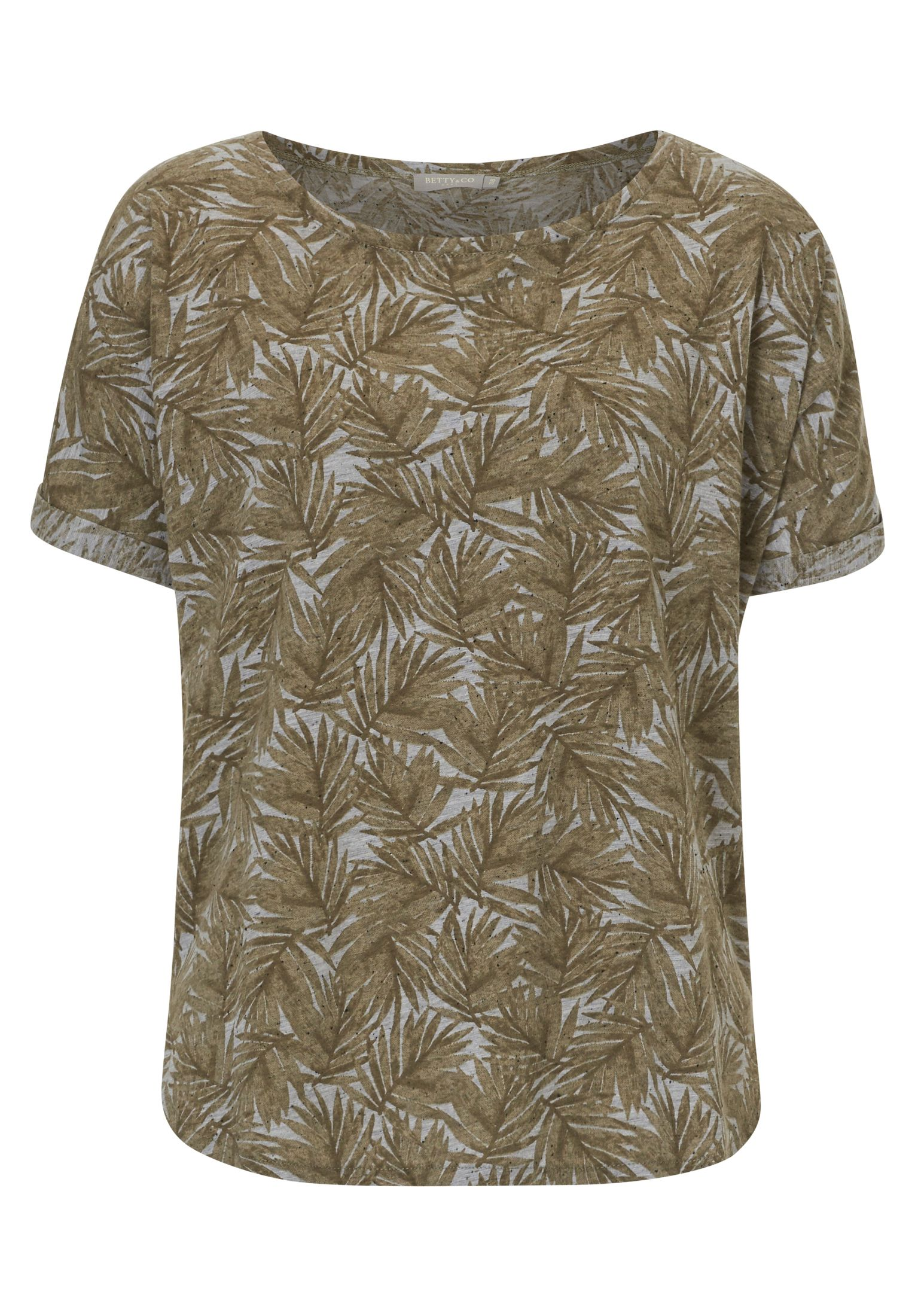 Betty & Co. Short sleeved print top, Green