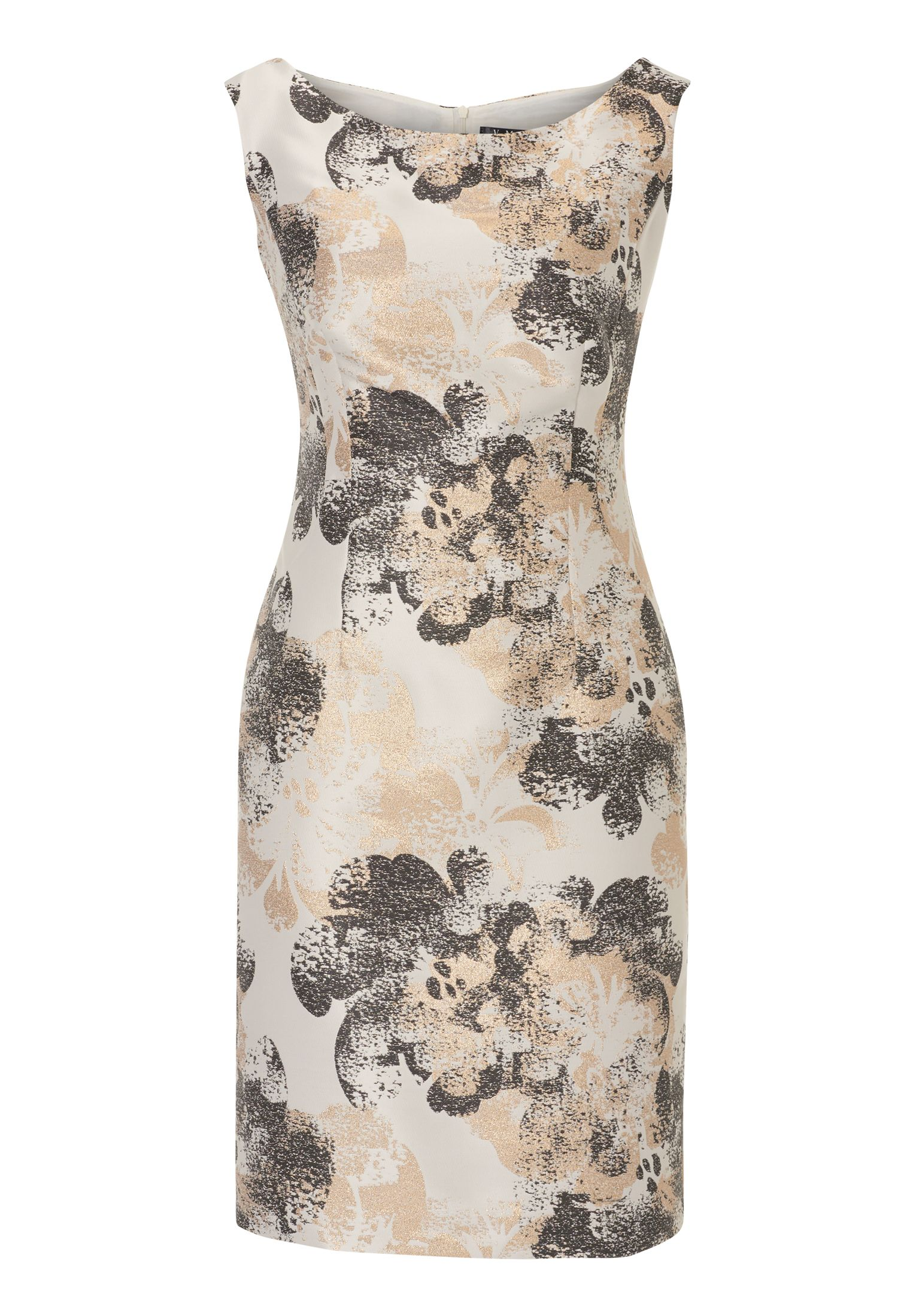 Vera Mont Printed satin dress, Grey