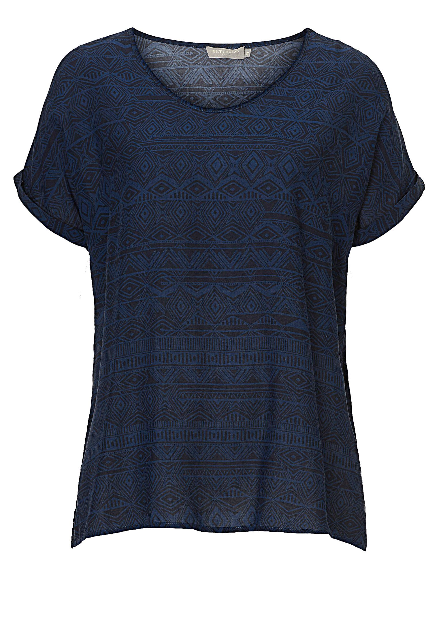 Betty & Co. Short sleeved print top, Blue