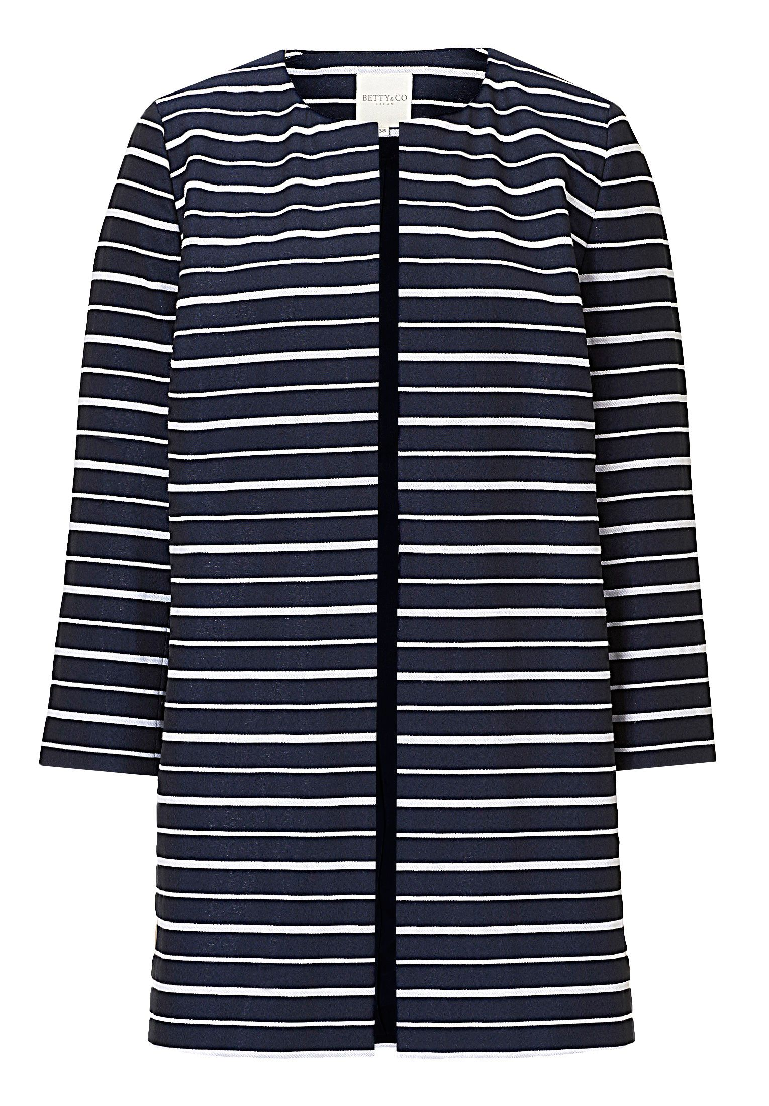 Betty & Co. Striped coat, Blue