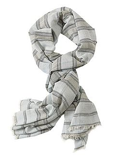 Long striped scarf