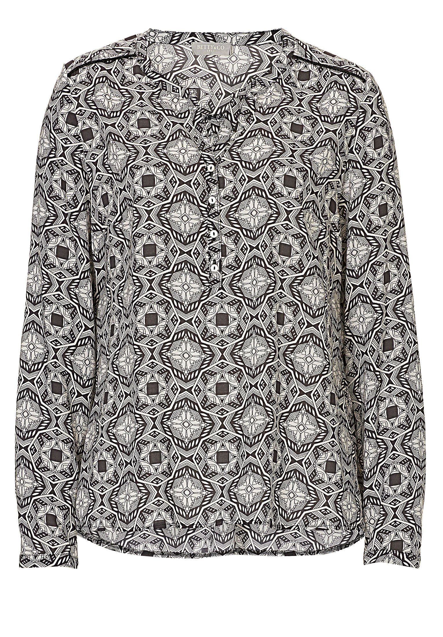 Betty & Co. Graphic print blouse, Cream