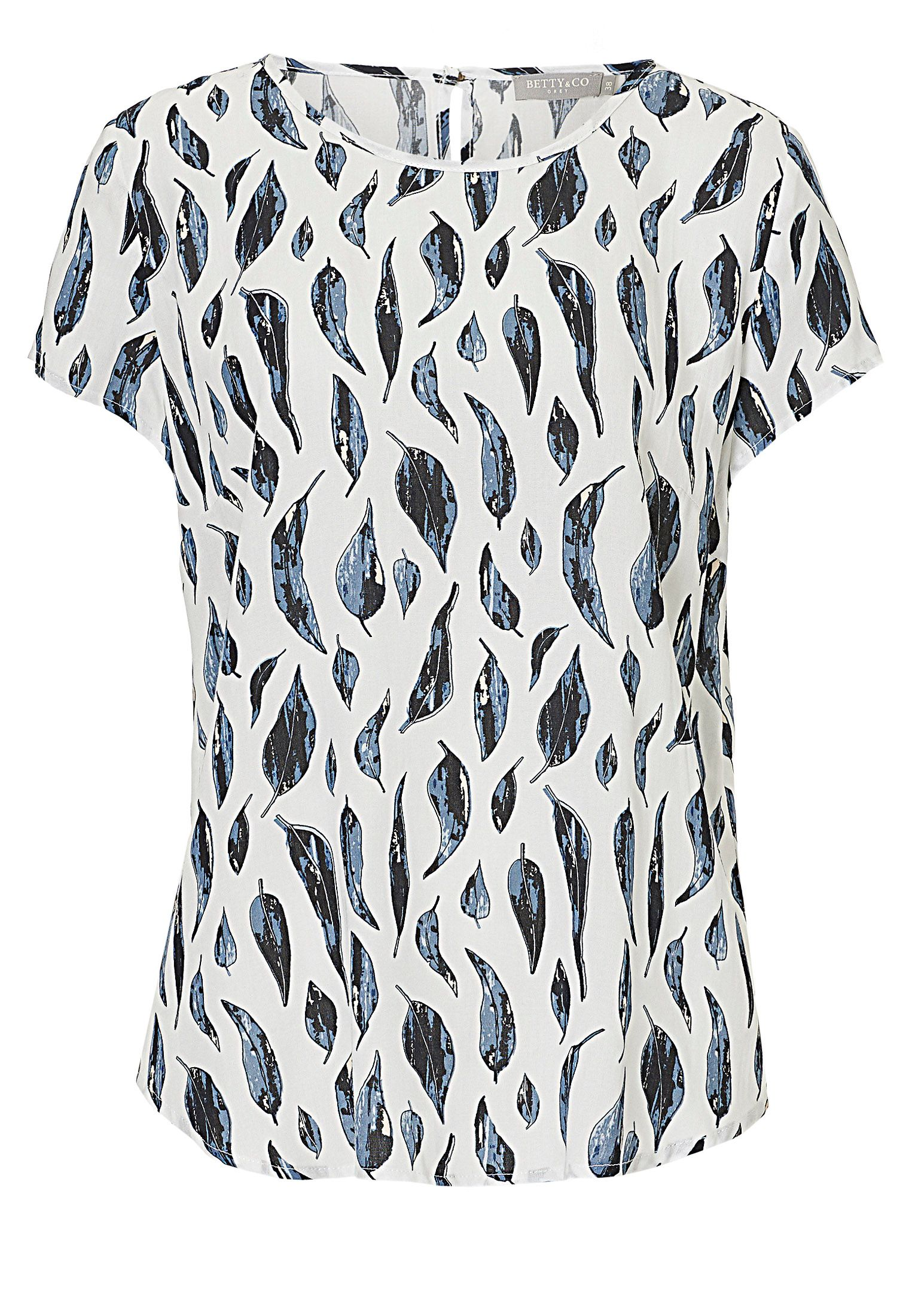 Betty & Co. Leaf print blouse, Multi-Coloured