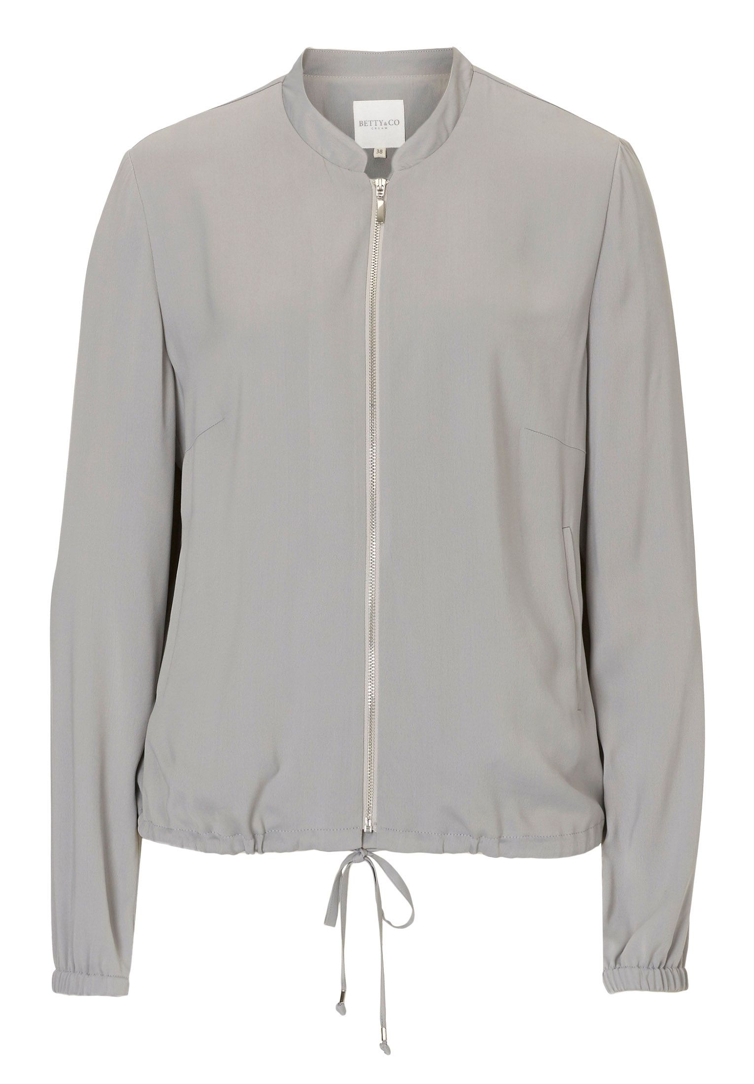 Betty & Co. Crêpe bomber jacket, Grey